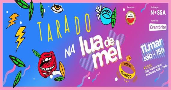 Bloco Casa Comigo realiza festa Tarado na Lua de Mel com carnaval na Fabriqueta do Brás Eventos BaresSP 570x300 imagem
