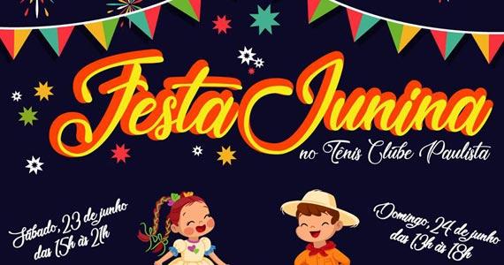 Tênis Clube Paulista organiza Festa Junina com muitas atrações típicas Eventos BaresSP 570x300 imagem