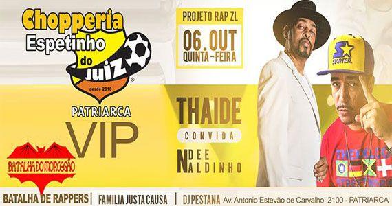 Projeto Rap da ZL com Thaide e Ndee Naldinho no Espetinho do Juiz Eventos BaresSP 570x300 imagem