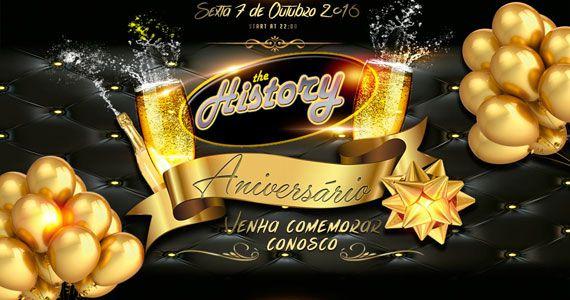The History comemora Aniversário de 8 anos com muitas atrações Eventos BaresSP 570x300 imagem