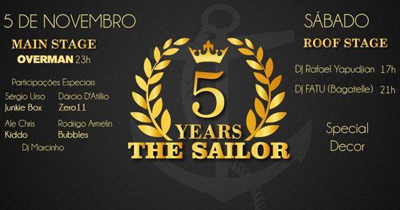 The Sailor comemora 5 anos com programação especial no sábado Eventos BaresSP 570x300 imagem
