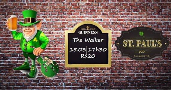 Banda The Walker agita a noite de St. Patricks com soul, funk e pop no St. Pauls Pub