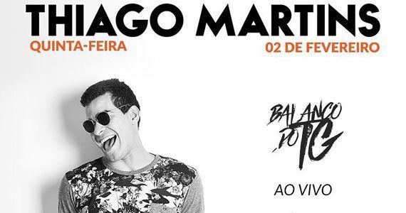 Thiago Martins apresenta o Balanço do TG no palco do Soul Sports Bar Eventos BaresSP 570x300 imagem