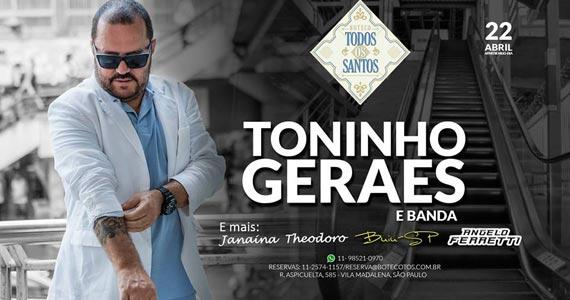 Boteco Todos os Santos traz show exclusivo do sambista Toninho Geraes Eventos BaresSP 570x300 imagem