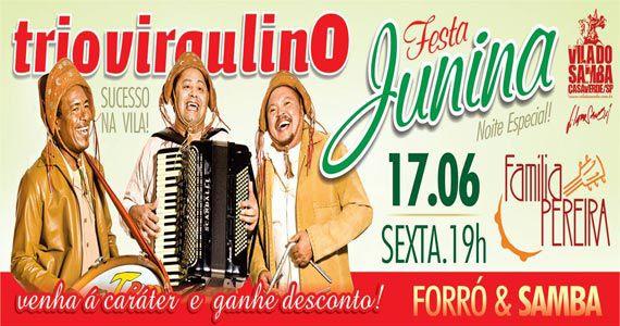 Festa Junina no Vila do Samba com Trio Virgulino e Família Pereira Eventos BaresSP 570x300 imagem