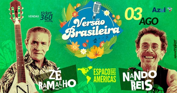 Espaço das Américas tem shows de Zé Ramalho e Nando Reis na festa Versão Brasileira Eventos BaresSP 570x300 imagem