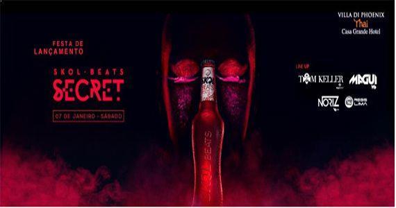Festa de Lançamento Skol Beats Secret com os Djs Regis Lima, MAGUI, TOM KELLER e Noriz no Villa Di Phoenix -Thai Guarujá  Eventos BaresSP 570x300 imagem