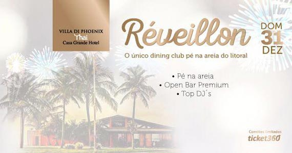 Festa de Réveillon 2018 com Open Bar e Line-up especial no Villa di Phoenix Thai Guarujá Eventos BaresSP 570x300 imagem