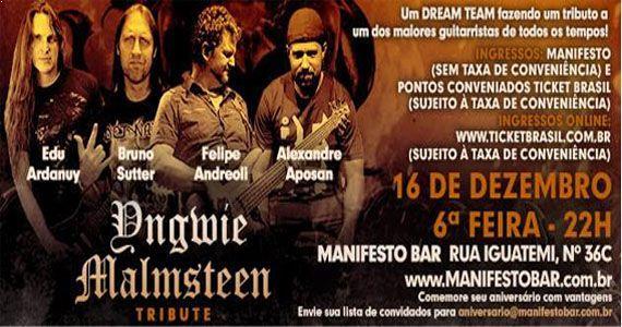 Sexta vai rolar Yngwie Malmsteen Tribute no Manifesto Bar Eventos BaresSP 570x300 imagem