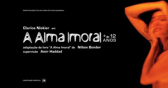 A Alma Imoral está em cartaz no Teatro Eva Herz Eventos BaresSP 570x300 imagem