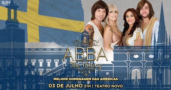 Teatro Novo apresenta tribute show do ABBA The History