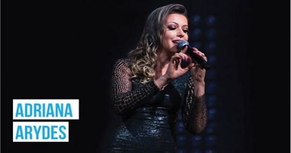 A cantora Adriana Arydes canta os seus sucessos no Theatro Net São Paulo Eventos BaresSP 570x300 imagem