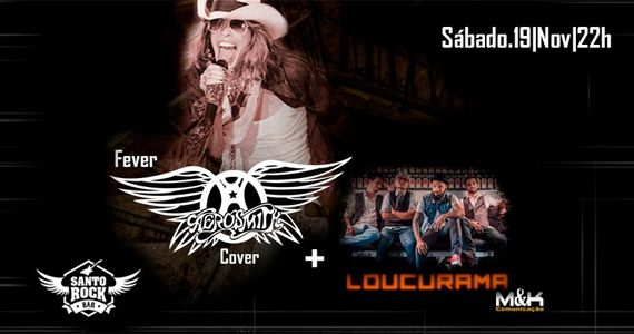 Loucurama e banda Ferver tocam o melhor do rock no palco do Santo Rock Bar Eventos BaresSP 570x300 imagem