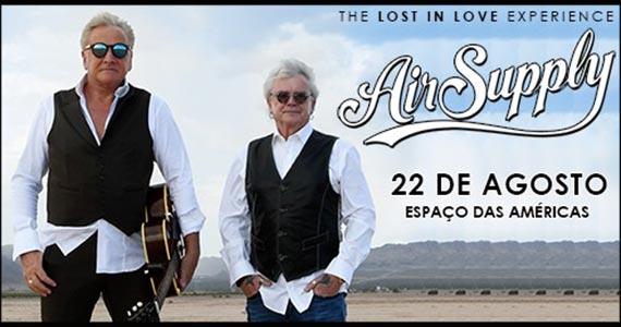 Air Supply chega ao Brasil com a turnê Lost in Love Experience Eventos BaresSP 570x300 imagem