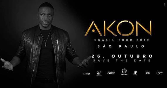 Akon Tour chega a São Paulo com apresentação única Eventos BaresSP 570x300 imagem