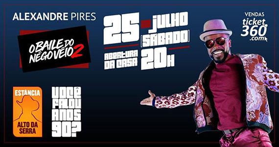 Alexandre Pires apresenta O Baile do Negô Véio na Estância Eventos BaresSP 570x300 imagem