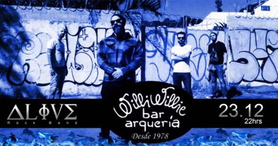 O melhor do universo Rock n'Roll com a Alive Rock Band no Willi Willie Bar e Arqueria Eventos BaresSP 570x300 imagem