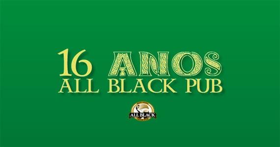 All Black comemora 16 anos com show das bandas Insônica e Burnz e cerveja comemorativa Eventos BaresSP 570x300 imagem