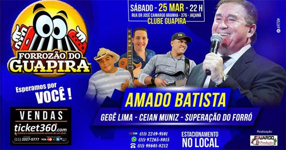 Amado Batista reúne os seus maiores sucessos e apresenta no Clube Guapira Eventos BaresSP 570x300 imagem