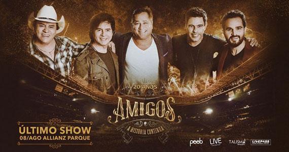 Show Amigos 20 anos - A História Continua no Allianz Parque Eventos BaresSP 570x300 imagem