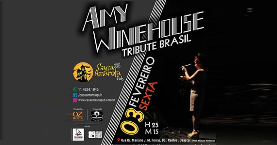Casa Amarela Pub recebe o tributo da diva britânica Amy Winehouse Eventos BaresSP 570x300 imagem