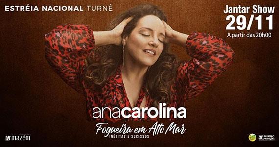 Ana Carolina chega ao Restaurante Florestal em nova turnê Eventos BaresSP 570x300 imagem