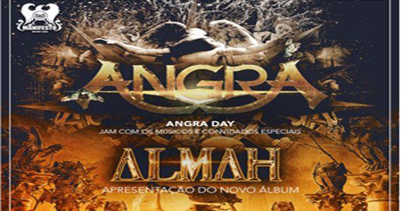 Festa Angra Day + convidados e Almah lançando o CD E.V.O no Manifesto Bar Eventos BaresSP 570x300 imagem