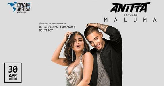 Véspera de feriado com a cantora Anitta e Maluma animando o Espaço das Américas Eventos BaresSP 570x300 imagem