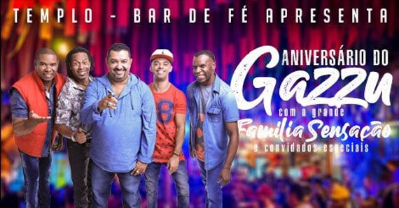 Aniversário do Gazzu com Família Sensação e convidados  Eventos BaresSP 570x300 imagem