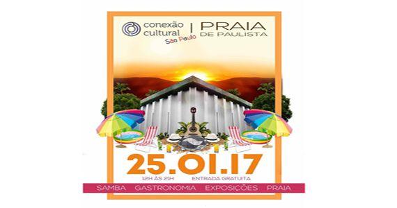 """Quarta-feira Aniversário de SP tem a 11º edição do Conexão Cultural no MIS com o tema """"Praia de Paulista Eventos BaresSP 570x300 imagem"""