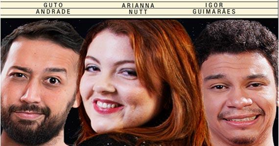 Ao Vivo Comedy Apresenta: Guto Andrade, Arianna Nutt e Igor Guimarães Eventos BaresSP 570x300 imagem