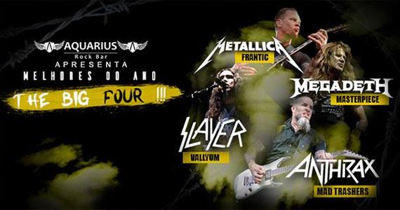 O rock do Metallica, Megadeth, Slayer e Anthrax vão invadir o palco do Aquarius Rock Bar Eventos BaresSP 570x300 imagem