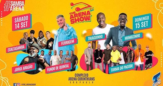 Ferrugem, Thiaguinho, Mumuzinho e mais no Festival Samba Arena Eventos BaresSP 570x300 imagem