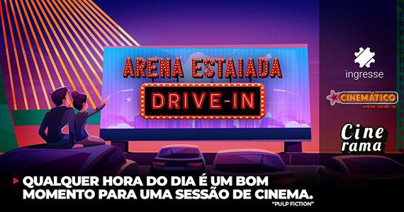 Arena Estaiada Drive-In apresenta sessões especiais de filmes Eventos BaresSP 570x300 imagem