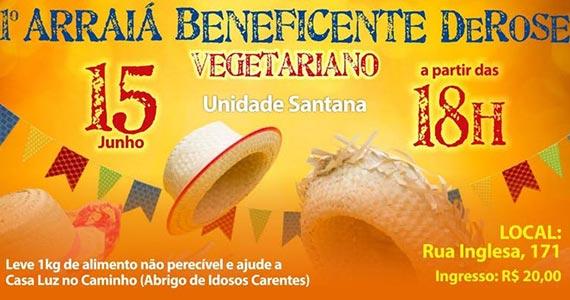 Arraiá Beneficente do DeROSE Santana celebra festa junina na zona norte Eventos BaresSP 570x300 imagem