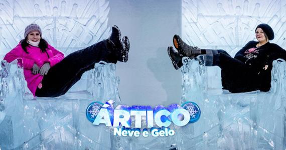 Expedição ao Ártico acontece em São Paulo com esculturas de gelo e muita neve Eventos BaresSP 570x300 imagem