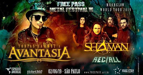 Avantasia, Shamn e Rec/All se apresentam no Free Pass Metal Festival Eventos BaresSP 570x300 imagem
