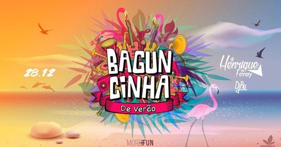 Baguncinha de Verão apresenta DJ Henrique de Ferraz e DJ Piu Eventos BaresSP 570x300 imagem