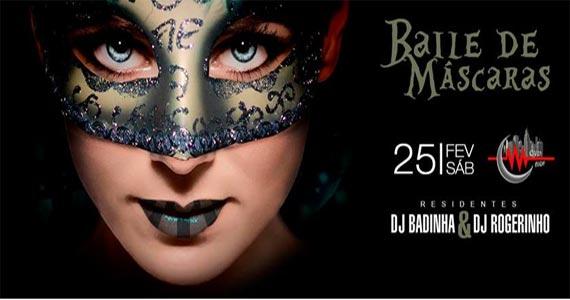 Sábado têm Dj Badinha & Dj Rogerinho agitando o Baile de Máscaras da Over Night Eventos BaresSP 570x300 imagem