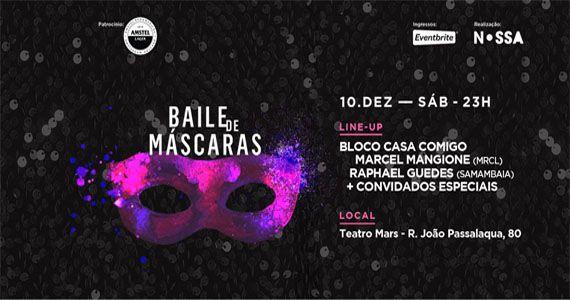 Sábado é dia do tradicional Baile de Máscaras com Bloco Casa Comigo no Teatro Mars Eventos BaresSP 570x300 imagem