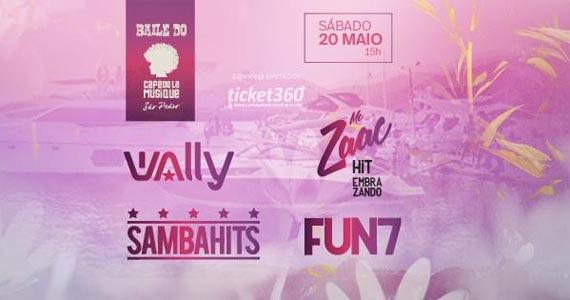 Baile do Café com Mc Zaac, Dj Wally, Fun 7 e Samba Hits no Café de la Musique Eventos BaresSP 570x300 imagem