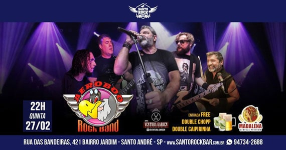 Banda Aeroboo apresenta o melhor do classic rock no Santo Rock Bar Eventos BaresSP 570x300 imagem