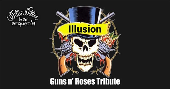 Banda Illusion realiza show no Willi Willie com os clássicos do Guns N Roses