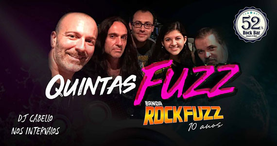Banda Rock Fuzz agita noite no 52s Rock Bar