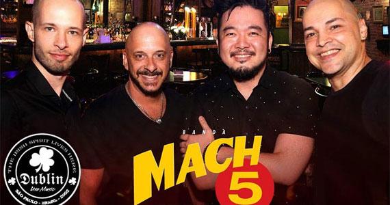 Banda Mach 5 comanda a noite com rock no Dublin
