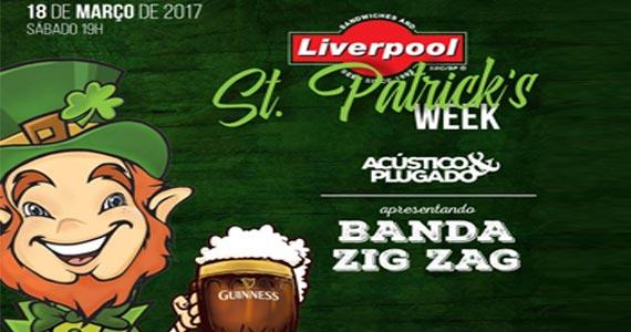 Liverpool comanda o St. Patricks Day com a banda Zig Zag