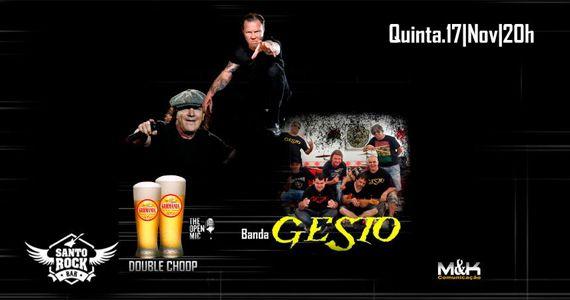 O melhor do rock nacional com Banda Gesto e double chopp no Santo Rock Bar Eventos BaresSP 570x300 imagem