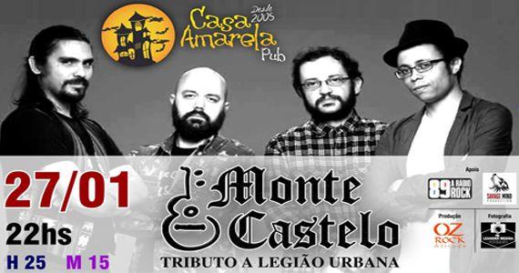 """Banda Monte castelo apresenta Tributo ao Legião Urbana"""" na Casa Amarela Pub Eventos BaresSP 570x300 imagem"""