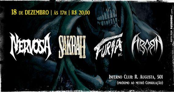 Último Show Do Ano com Nervosa, Furia Inc, Sakrah e Aborn no Inferno Club Eventos BaresSP 570x300 imagem
