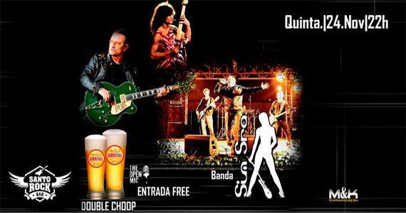Banda Sim Senhora emabala a noite no Santo Rock Bar com sucessos do rock nacional e internacional Eventos BaresSP 570x300 imagem